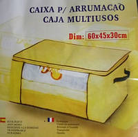 Органайзер для одежды бамбук (желтый)