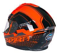 Шлем GEON 967 Интеграл с очками SPIRIT BLACK/ORANGE, фото 1
