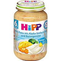 Детское пюре HiPP Мини-Паста с Аляски филе минтая и смазанные маслом овощей с 6 месяцев 190 г
