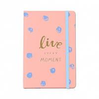 Блокнот Live every moment Pink