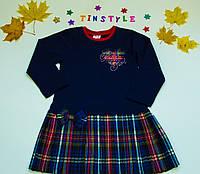 """Красивое платье""""Шотландка"""" синее для девочки от 2 до7 лет"""