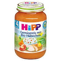 Детское пюре HiPP с риса и органического цыпленка 4 месяца 190 г