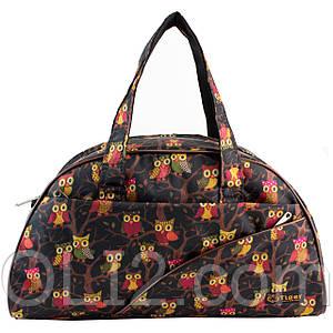 Сумки фитнес Tiger спортивная сумка  совы черные
