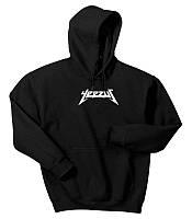 Худи Yeezus  черное с белым логотипом, унисекс (мужское,женское,детское)
