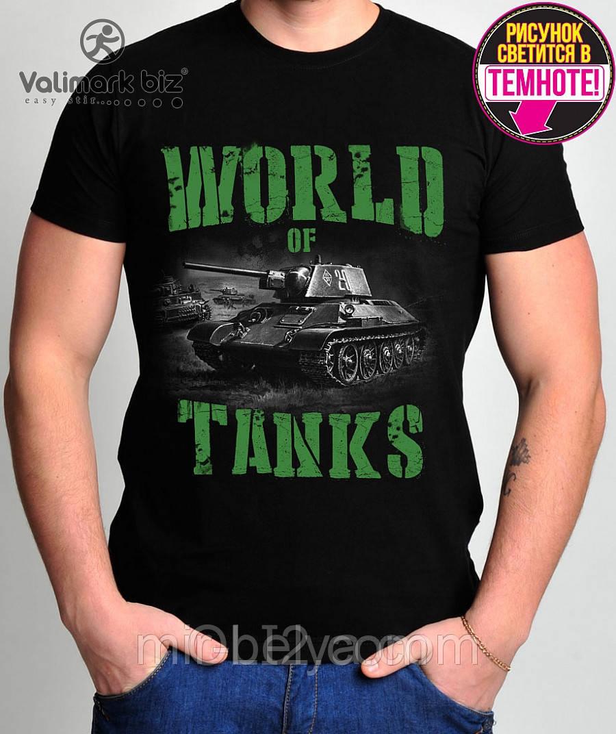 Футболка черные мужские WORLD of TANKS танки Valimark