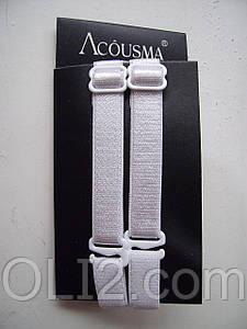 Бретельки тканевые белого цвета, Acousma