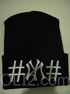 Мужская шапка NY new york решетка