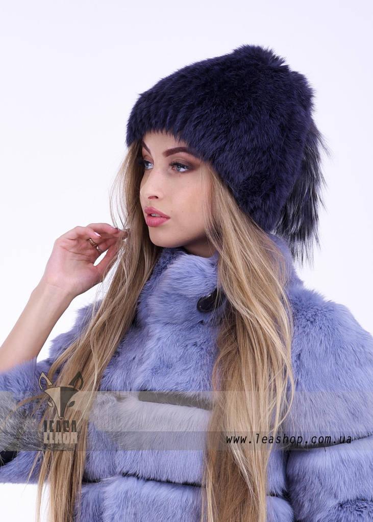 Меховая женская шапка с узором