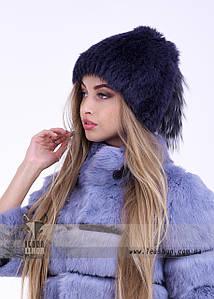 Жіноча хутрова шапка з візерунком