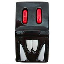 Клыки вампира с капсулами крови, зубы Дракулы - 4 шт - Хэллоуин, фото 2