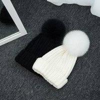 Женская стильная шапка с мехом песца (6 цветов), фото 1