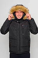 Теплая зимняя мужская куртка с мехом 285-1
