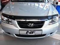 Накладка капота хром Hyundai Sonata 2005-2007 (NF)