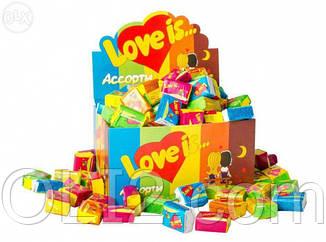 Жвачки Love is 5 вкусов микс жевательная резинка лове ис