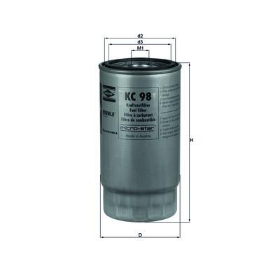 Фильтр топливный KNECHT KC98 (PP 940/1)