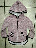 """Детский теплый свитер для девочки """"Смайлик"""" 4-7лет"""