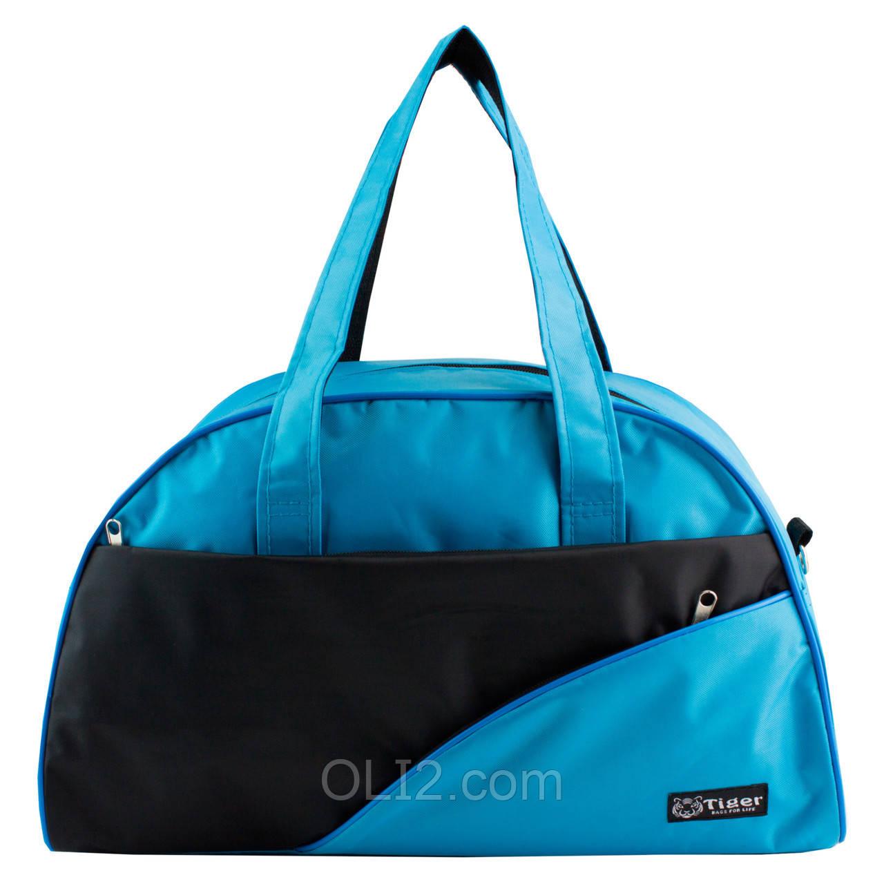 Сумки фитнес Tiger спортивная сумка  голубой - черный