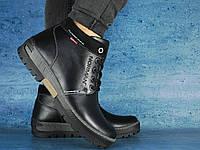 Ботинки мужские Norman с натуральной кожи чёрные