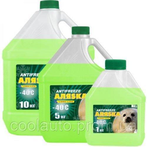Антифриз Aляska Antifreeze -40 зеленый 10л