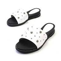 Для женщин Тапочки и Шлепанцы Детская праздничная обувь Светодиодные подошвы Удобная обувь Босоножки Туфли Мери-Джейн Кожа Наппа Leather 06088692