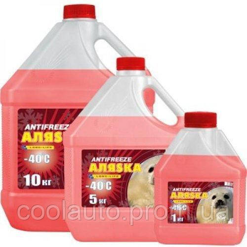 Антифриз Aляska Antifreeze-40 красный 5л