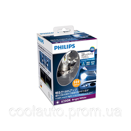 Светодиодные LED лампы Philips X-treme Ultinon LED 12953BWX2 H4, фото 2