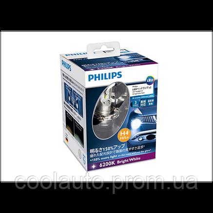 Светодиодные LED лампы Philips X-treme Ultinon LED 12953BWX2 H4, фото 2