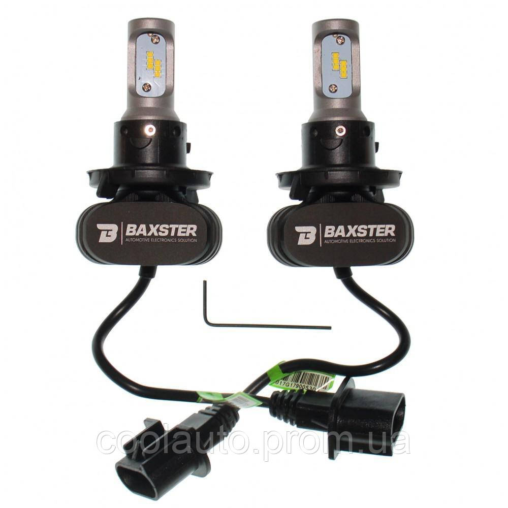 Лампы светодиодные Baxster S1 H4 H/L 5000K 4000Lm (2 шт)