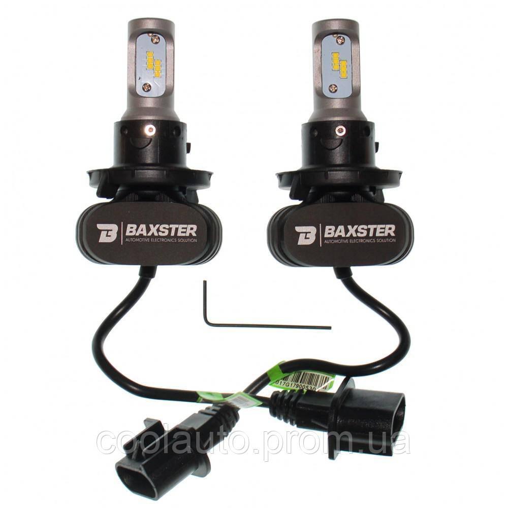 Лампы светодиодные Baxster S1 H4 H/L 6000K 4000Lm (2 шт)