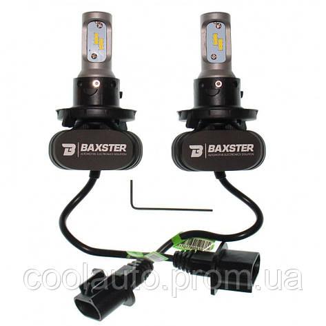 Лампы светодиодные Baxster S1 H4 H/L 6000K 4000Lm (2 шт), фото 2