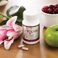 Витолайз женская энергия состоит из витаминов В6, В12, С, D, Е и фолиевой кислоты.