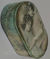 Шкатулка деревянная  Девочки и ноты, фото 1