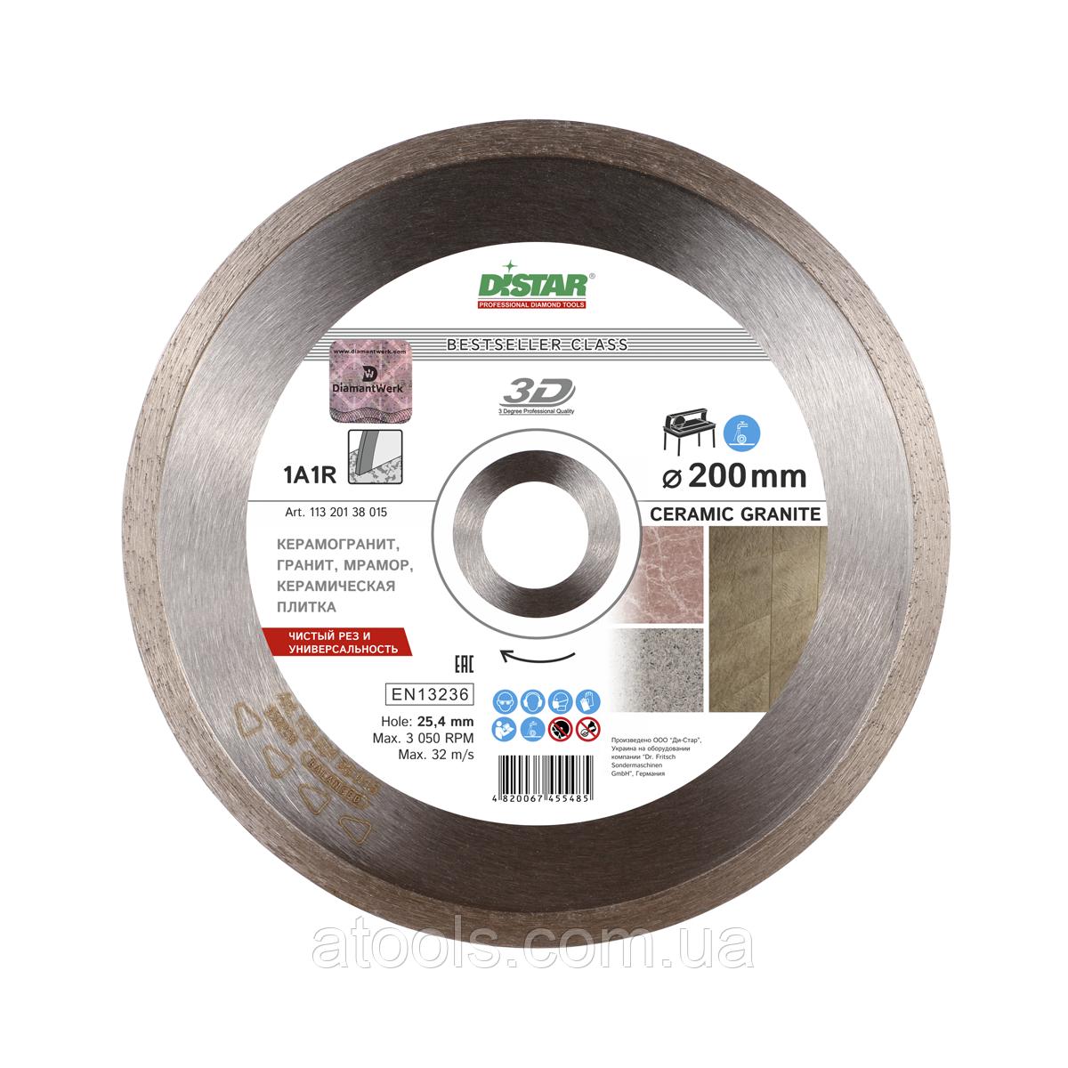 Алмазный отрезной диск Distar Ceramic Granite 1A1R 250x1.7x10x25.4 Bestseller (11320138019)