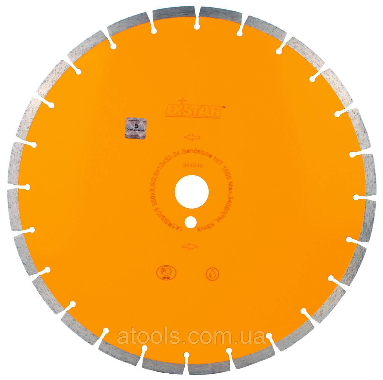 Алмазный отрезной диск Distar 1A1RSS/C3 500x3.8/2.8x15x32-36 Sandstone HIT 1500 (14327139031)