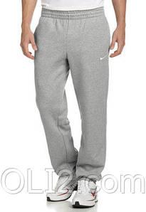Спортивные теплые штаны на флисе NIKE на резинке