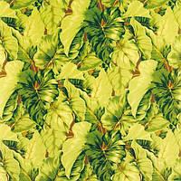 Рулонные шторы Leaves. Тканевые ролеты Листья 35 см