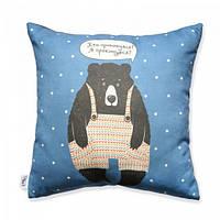 Подушка Медведь Dark blue
