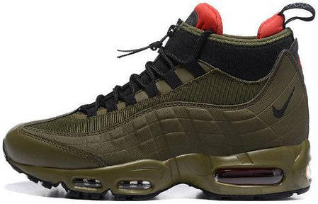Мужские кроссовки Nike Air Max 95 Sneakerboot Green, найк эйр макс. ТОП Реплика ААА класса., фото 2
