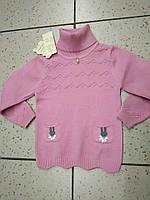 """Детский теплый свитер """"Зайчики"""" для девочек"""