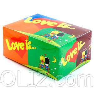 Жвачки Love is 5 вкусов микс жевательная резинка/конфеты лове ис