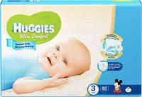 Подгузники Huggies Ultra Comfort  для мальчиков 3 (5-9кг) 80шт. Россия