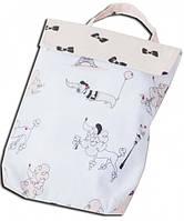 Кармашек для памперсов в детскую сумку Бантики