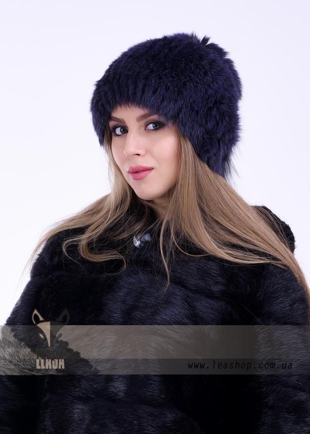 Женская меховая шапка пурпурного цвета, ФОТО