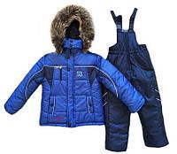 Детские зимние термо комбинезоны для мальчиков р.86-110 до -20 мороза наши зимы теплющие Электрик 53-2017-18
