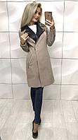Женское кашемировое пальто с отложным воротом