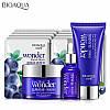 Набор косметики для очищения и увлажнения кожи лица с экстрактом черники BIOAQUA Wonder Blueberry