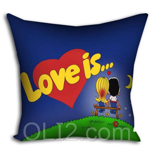 Подушка Love is  подарочные подушки любовь