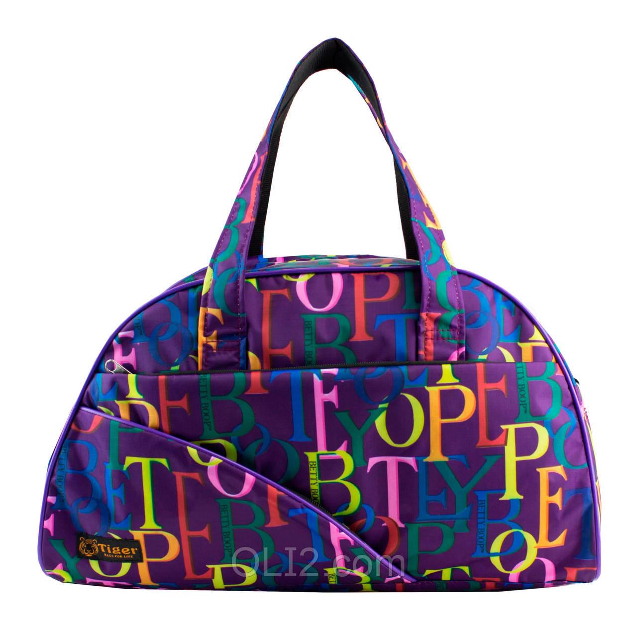 Сумки фитнес Tiger спортивная сумка  буквы разноцветные 2