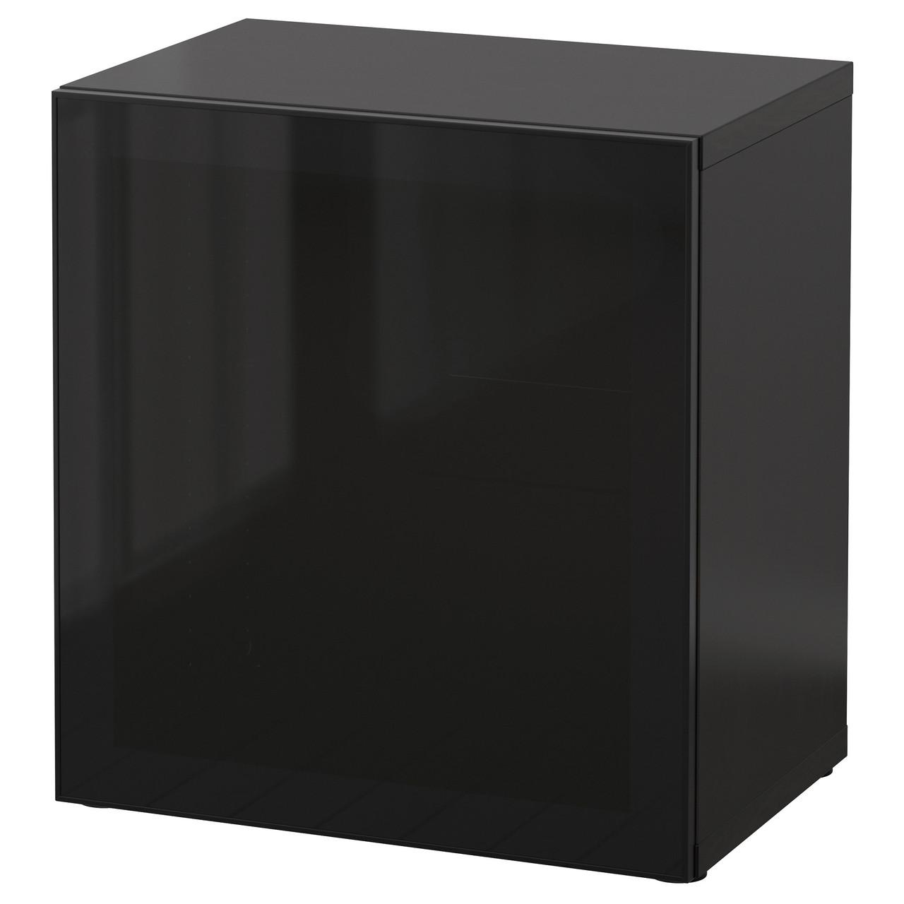 БЕСТО Шкафчик, черный, стекло, 990.477.63