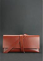 Тревел-кейс кожаный цвета коньяк